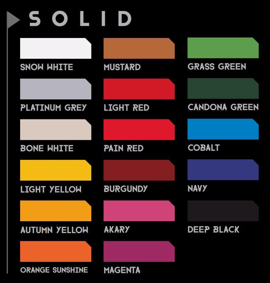 Colores Solidos para Pinstriping y Lettering